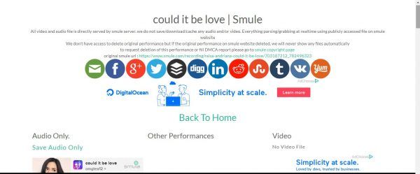 cara download lagu smule
