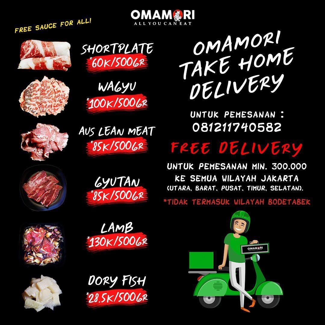 omamori take away dan delivery